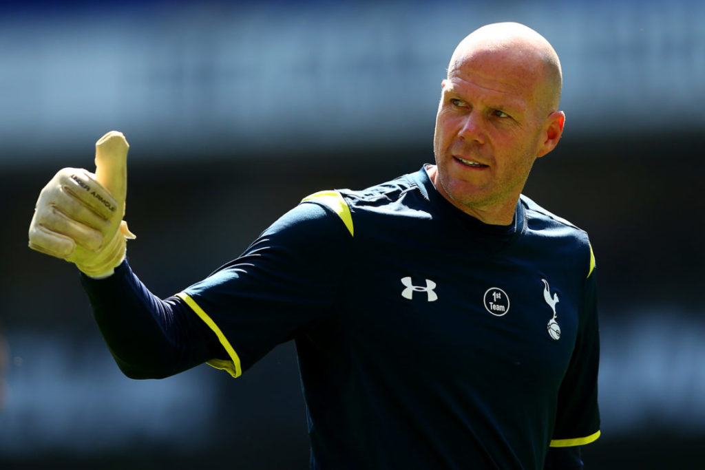 LONDON, ENGLAND - MAY 16: Brad Friedel of Spurs gives the thumbs up during the Barclays Premier League match between Tottenham Hotspur and Hull City at White Hart Lane on May 16, 2015 in London, England.