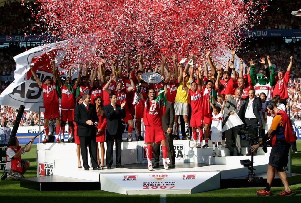 Winning the Bundesliga in 2006/07 - VfB Stuttgart.