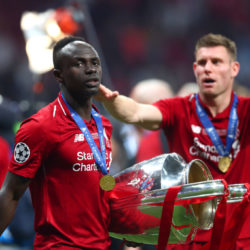 Sadio Mané unmittelbar nach dem Champions-League-Sieg 2019 mit dem FC Liverpool.