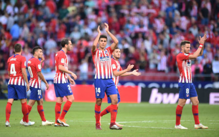 Auch Rodrigo (m.) hat seinen Abschied von Atlético Madrid verkündet.