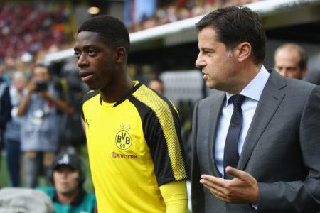 Das Supercup-Finale am 5. August 2017 gegen den FC Bayern München war das letzte Spiel von Ousmane Dembélé für Borussia Dortmund. Rechts: Christian Seifert.