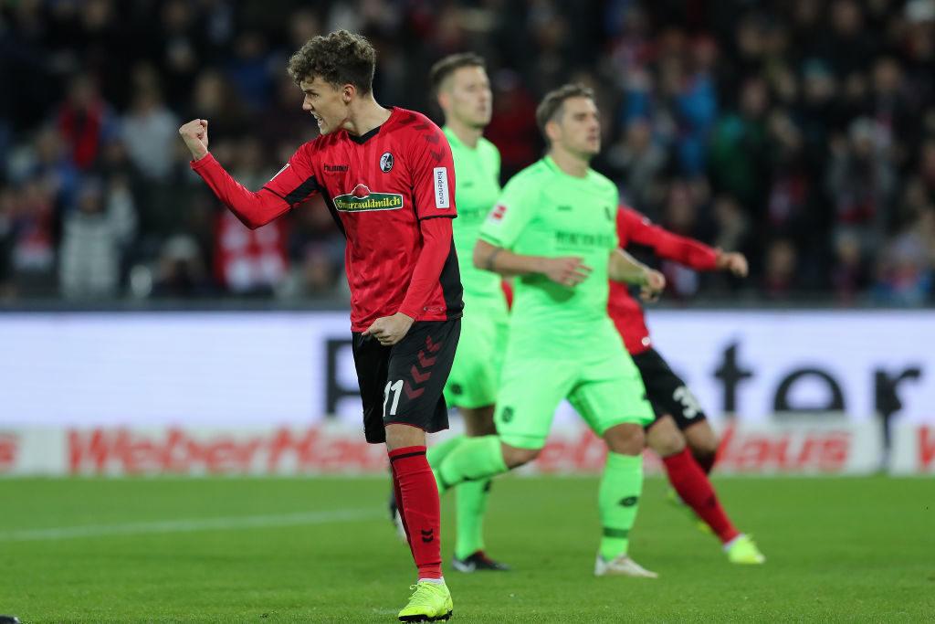 Luca Waldschmidt bewahrte den SC Freiburg mit 10 Saison-Toren 2018/2019 in der Bundesliga vor schlimmerem..