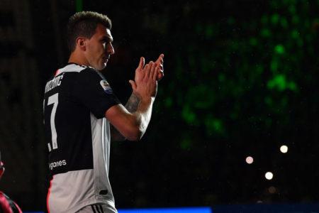 Mario Mandzukic gewann mit Juventus Turin 4-mal die italienische Fußballmeisterschaft (Scudetto), hier 2019.