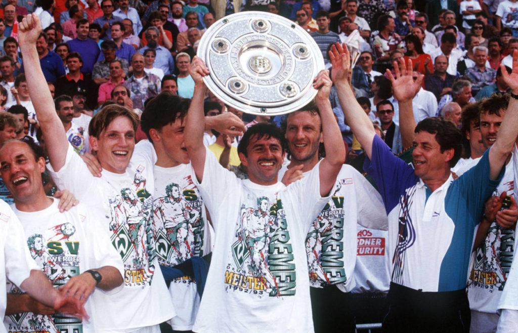 Bundesliga-Saison 1992/93 - Werder Bremen wird Deutscher Meister.