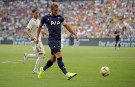 Tottenhams Kapitän Harry Kane im Audi-Cup-Halbfinale am 30. Juli 2019 gegen Real Madrid (1:0) in München.