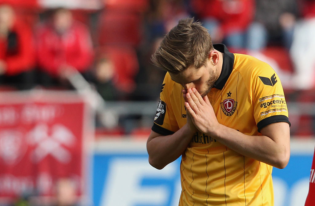 Justin Eilers, hier im Trikot von Dynamo Dresden, sucht verzweifelt einen sportlichen Neuanfang.