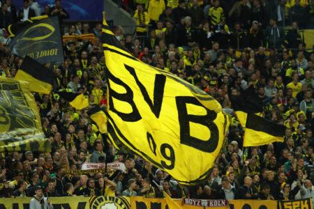 Borussia Dortmund im Europa-Cup gegen Tottenham.