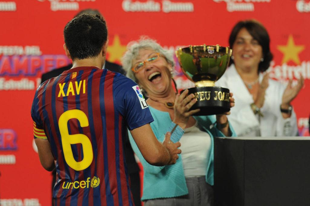 Überreichung der Gamper-Trophy.