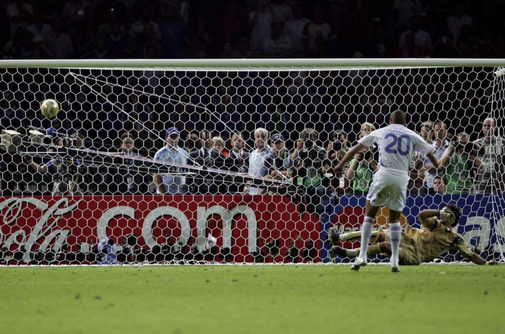 David Trezeguet verschiesst den entscheidenden Elfmeter im WM-Finale 2006.