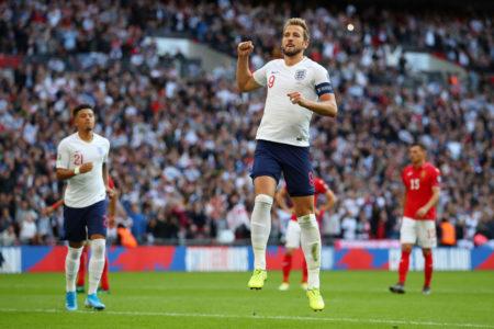 Harry Kane durfte bei Englands 4:0-Erfolg gegen Bulgarien in der EM-Qualifikation 3-mal jubeln.