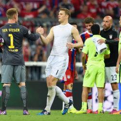 """Dieses Duell ging an Marc-André ter Stegen und den FC Barcelona: Im Mai 1015 zieht ,,Barca"""" gegen den FC Bayern München und Manuel Neuer (m.) ins Champions-League-Finale von Berlin ein."""