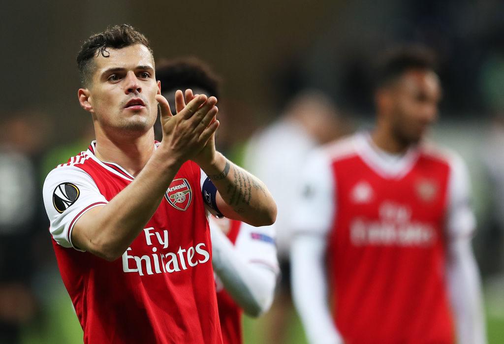 Granit Xhaka und der FC Arsenal triumphierten in der Europa League bei Eintracht Frankfurt.