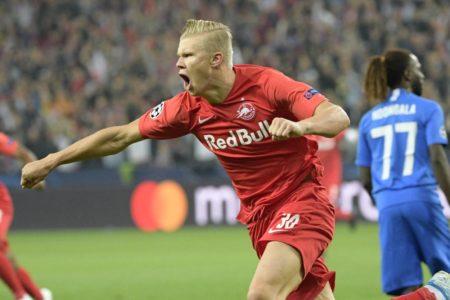 Erling Braut Haland stürmt erst seit Januar 2019 für RB Salzburg - und trug sich beim 6:2 gegen KRC Genk in die Champions-League-Geschichtsbücher ein.