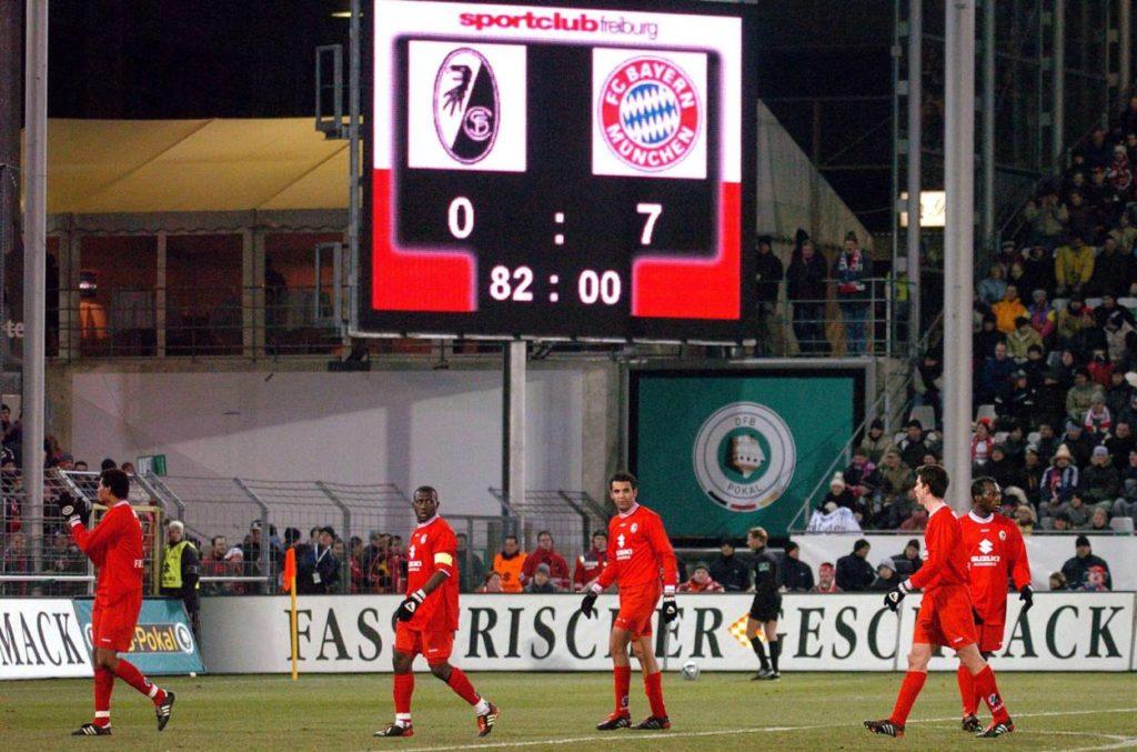 Freiburg gegen Bayern, das geht nicht immer gut..