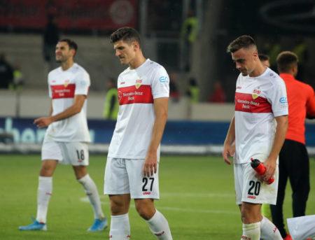 VfB Stuttgart: Mario Gomez (m.) und Co. mussten gegen Wehen Wiesbaden eine empfindliche Niederlage hinnehmen...