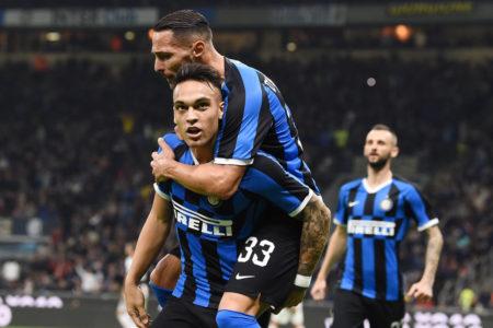 Lautaro Martinez traf zum zwischenzeitlichen 1:1-Ausgleich für Inter Mailand im Derby d`Italia gegen Juventus Turin am 6. Oktober 2019.