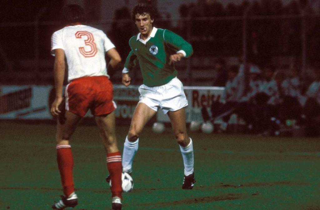 Rudi Völler bei der U21-Premiere am 10. Oktober 1979 in Tosun gegen Polen