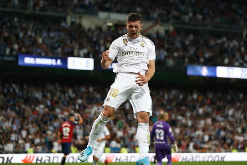 Jubel bei Luka Jovic, aber sein vermeintlich erster Treffer für Real Madrid zählt am 25. September 2019 gegen Osasuna nicht...