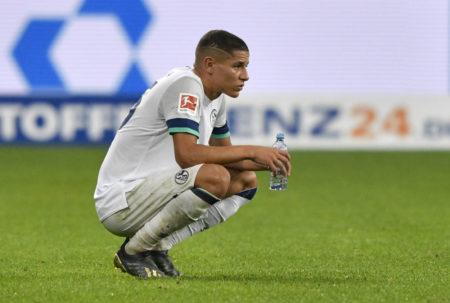 Nach Spielende: Enttäuschung bei Amine Harit vom FC Schalke 04. Die Knappen verloren mit 0:2 bei der TSG 1899 Hoffenheim.