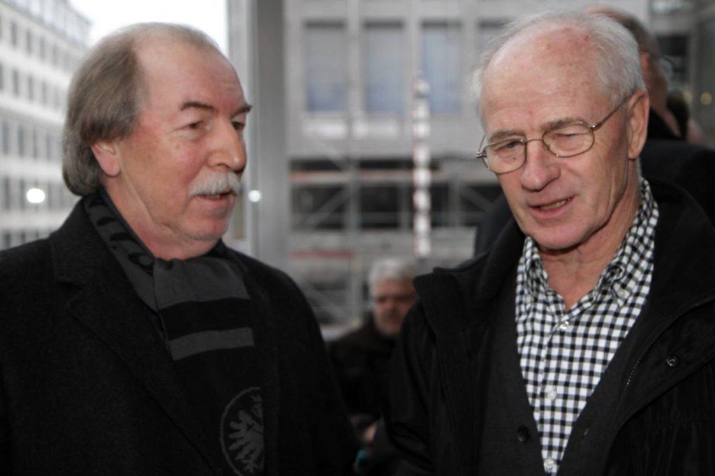 Jürgen Grabowski und Willi Neuberger (r.) im Jahr 2013.