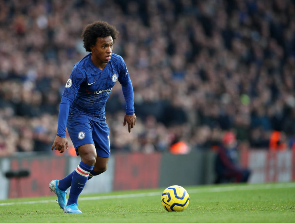 Willian is the 10th most fouled player in this season's Premier League