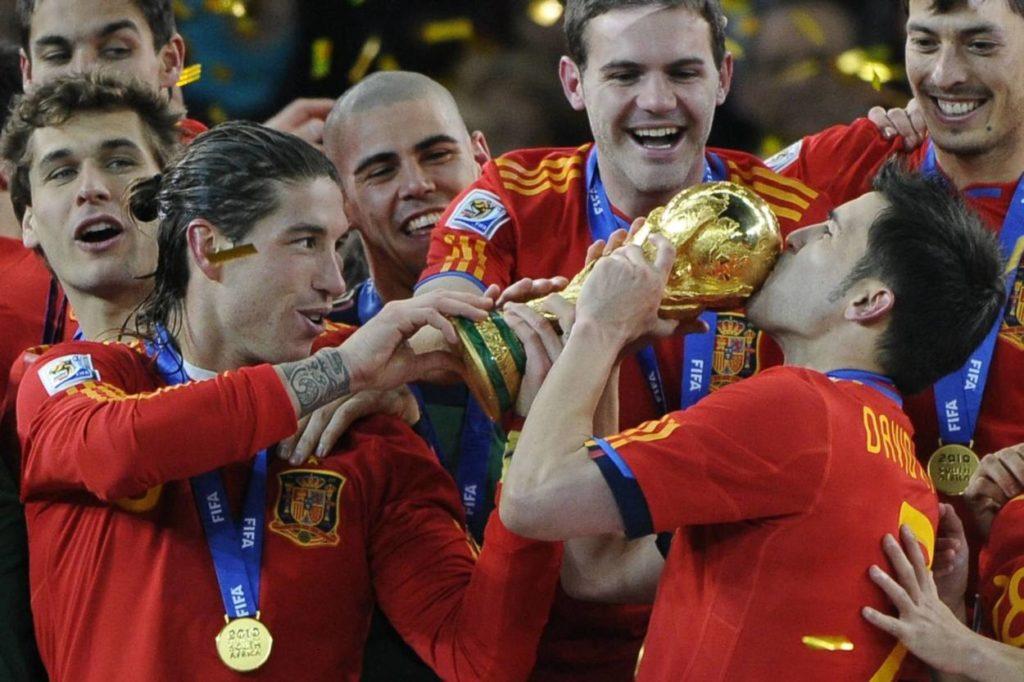 David Villa Weltmeister Spanien 2010