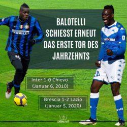 Mario Balotelli schiesst das erste Tor des Jahrzehnts in der Serie A