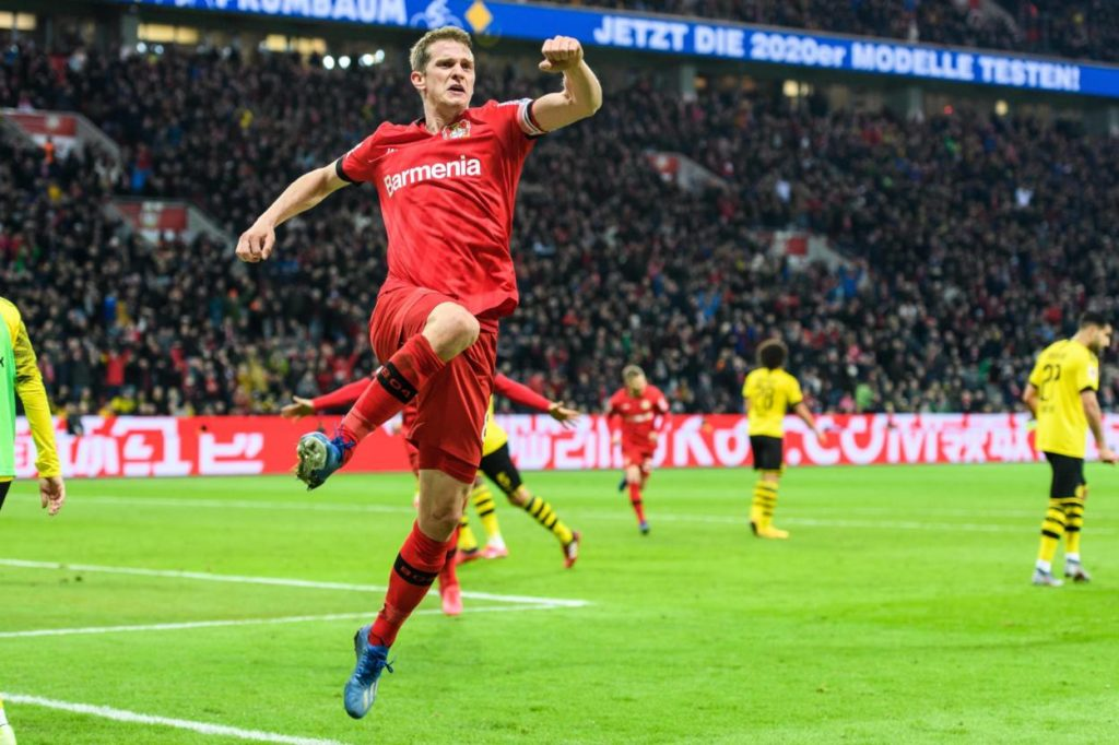 Lars Bender Bayer Leverkusen - Borussia Dortmund 4:3