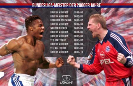 Deutscher Meister in den 2000-er Jahren war eine Sache des FC Bayern München.