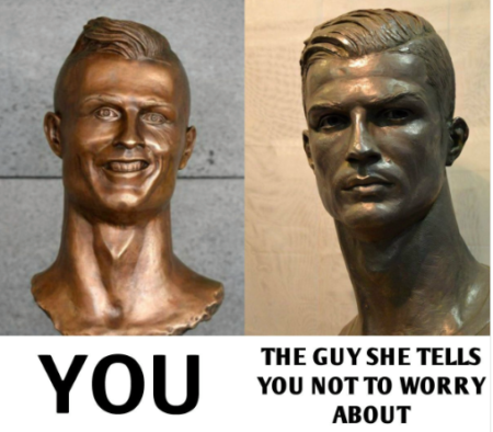 CR7 Meme You Vs The Guy She Told You Not To Worry About