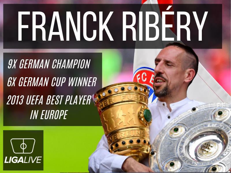 Franck RIbery - 9 Mal Deutscher Meister und 6 Mal DFB Pokalsieger.