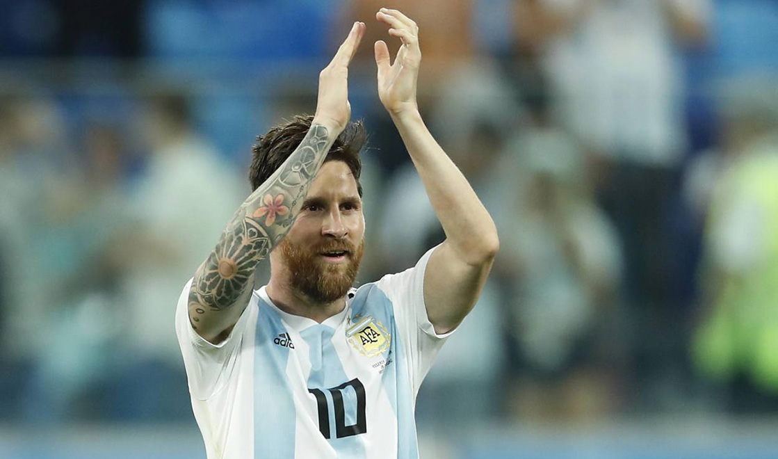 Lionel Messi of Argentina during the 2018 FIFA World Cup WM Weltmeisterschaft Fussball Russia group