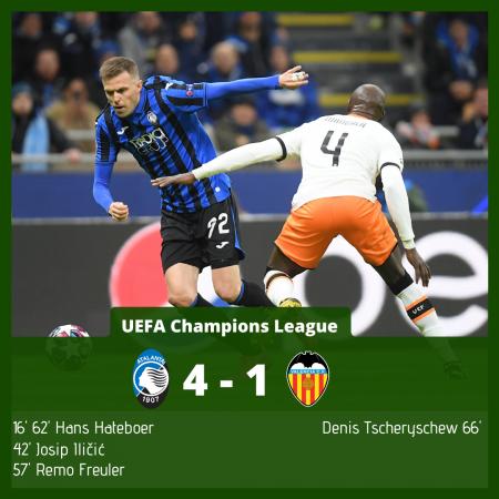 Atalanta Valencia UEFA Champions League 2019/20