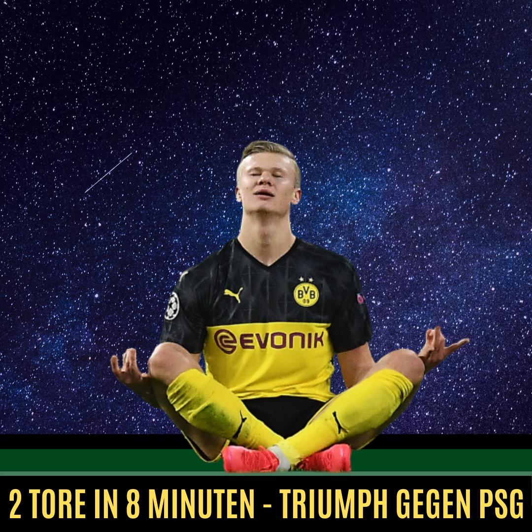 Haaland 2 Tore 8 Minuten BVB PSG