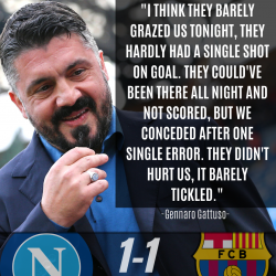 Gennaro Gattuso UEFA Napoli Barcelona Quote