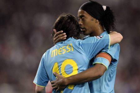 Ronaldinho Lionel Messi FC Barcelona