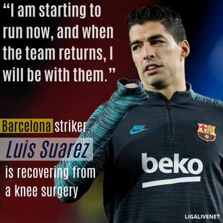 Luis Suarez knee surgery