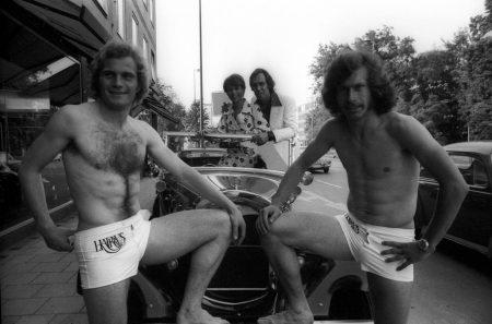 Uli Hoeneß und Paul Breitner im Look der 70-er Jahre