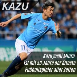 Kazu der älteste Fußballspieler