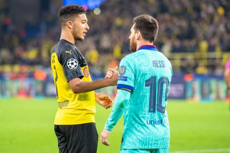 Opta stats show that Borussia Dortmund star Jadon Sancho is only behind Lionel Messi in terms of goals scored and chances created.
