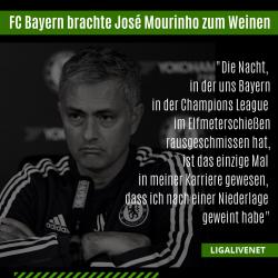 FC Bayern brachte José Mourinho zum Weinen
