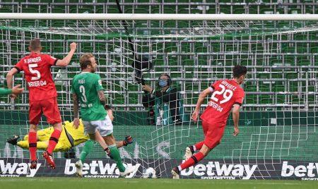 Havertz scored twice against Werder
