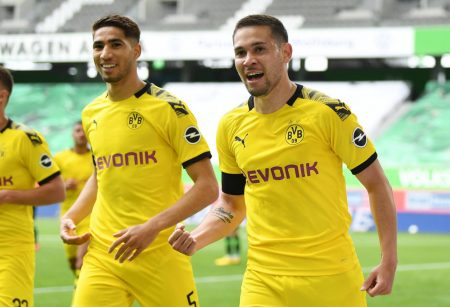 Achraf Hakimi and Raphaël Guerreiro scored as Borussia Dortmund beat Vfl Wolfsburg by 2:0 ahead of all-important game against Bayern Munich.
