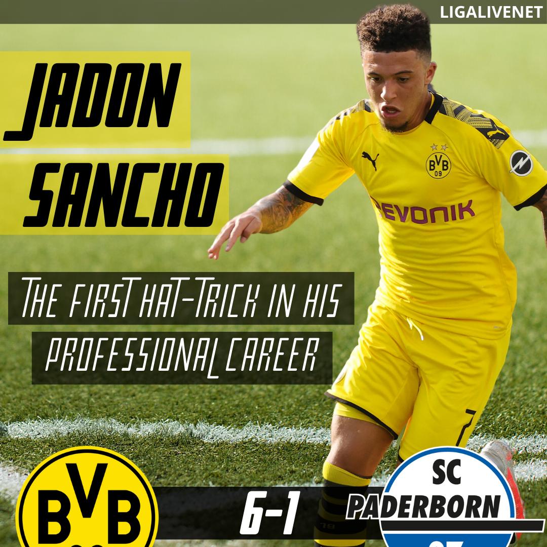 Jadon Sancho first hat-trick