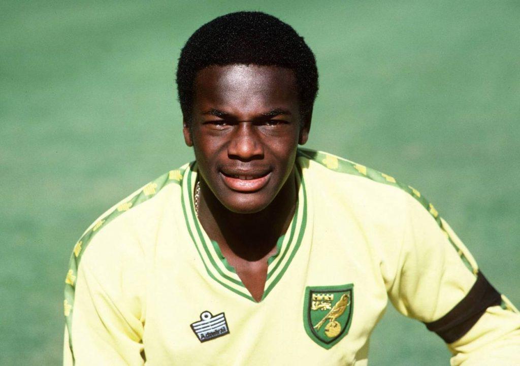 Justin Fashanu in Diensten von Norwich City, 1979.