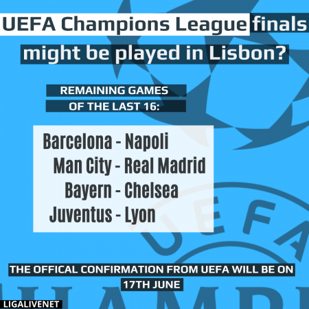 UEFA Champions League Finals might be played in Lisbon