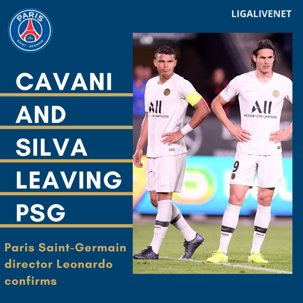 Cavani and Silva leaving PSG