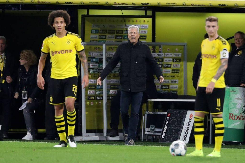 Historisch: Ein Spieltag ohne Heimsiege. Borussia Dortmund mit (v. l.) Axel Witsel und Marco Reus konnte beim 2:2 gegen Werder Bremen nicht glänzen.