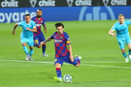 Ansu Fati and Lionel Messi on target as FC Barcelona beat Leganes by 2:0 and move 5 points clear at the top of La Liga table.