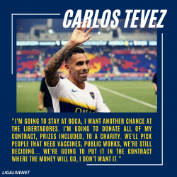 Carlos Tevez donates his earnings to charity